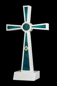 Illumina Hand Crafted Glass & Marble Crosses & Urns